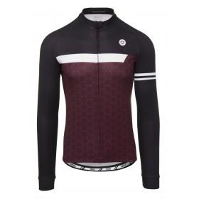Agu essential wire maillot de cyclisme manches longues windsor wine rouge