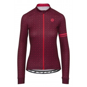 Agu essential velo love maillot de cyclisme manches longues femme windsor wine rouge