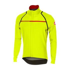 Castelli perfetto convertible veste de cyclisme jaune fluorescent