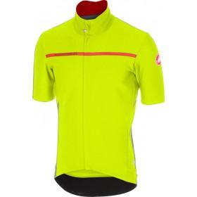 Castelli gabba 3 maillot de cyclisme manches courtes jaune fluorescent