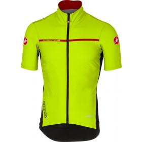 Castelli perfetto light 2 maillot de cyclisme manches fluo jaune