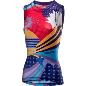 Castelli pro mesh vêtement sans manches femme multicolor violet