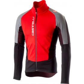 Castelli mortirolo v reflex veste de cyclisme rouge