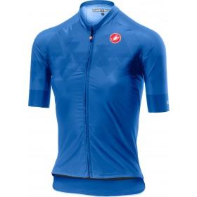 Castelli aero pro maillot de cyclisme manches courtes femme riviera bleu
