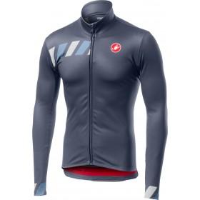 Castelli pisa maillot de cyclisme à manches longues steel bleu foncé