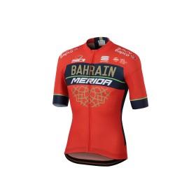 Sportful Bahrain Merida bodyfit team maillot de cyclisme manches courtes rouge