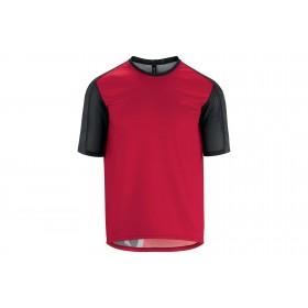Assos trail maillot de cyclisme manches courtes rodo rouge