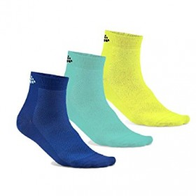 Craft greatness mid chaussettes bleu heal jaune (3-pack)