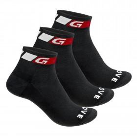 GripGrab classic low-cut chaussettes de cyclisme noir (3-pack)