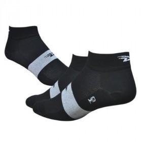 Defeet aireator speede team chaussetes cycliste noir blanc