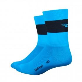 Defeet aireator hi-top team chaussetes cycliste hi-vis bleu