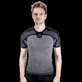 Megmeister drynamo vêtement avec manches courtes charcoal noir