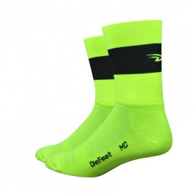 DEFEET Sock Aireator Team Defeet Hi Vis Yellow Black