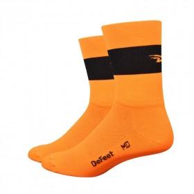 DEFEET Sock Aireator Team Defeet Hi Vis Orange Black
