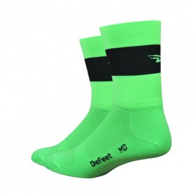 DEFEET Sock Aireator Team Defeet Hi Vis Green Black