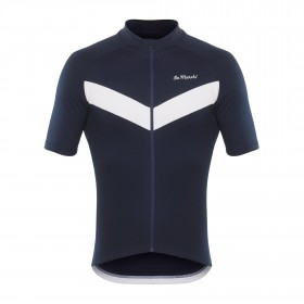 De Marchi classica 4-season maillot de cyclisme manches courtes bleu