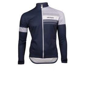 Vermarc classico maillot de cyclisme manches longues bleu