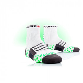 COMPRESSPORT Bike Socks High White Green