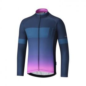 Shimano thermal team maillot de cyclisme manches longues navy