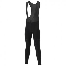 Shimano winter cuissard de cyclisme long à bretelles noir