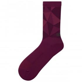 Shimano original tall chaussettes de cyclisme violet