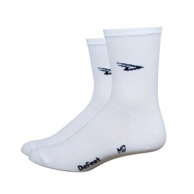 Defeet aireator high-top chaussetes cycliste d-logo blanc
