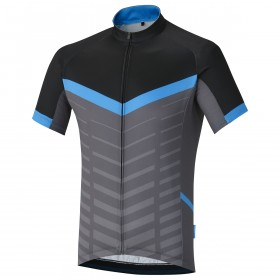 Shimano climbers maillot de cyclisme manches courtes bleu