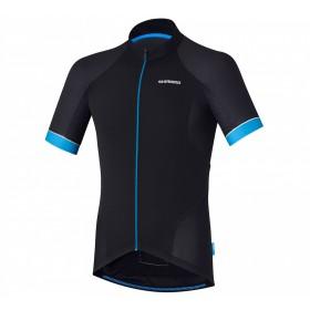 Shimano escape maillot de cyclisme manches courtes noir bleu
