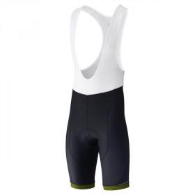 Shimano aspire cuissard de cyclisme à bretelles court noir lime jaune