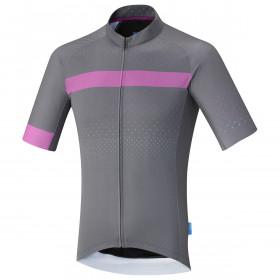 Shimano breakaway maillot de cyclisme manches courtes gris