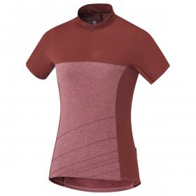 Shimano trail maillot de cyclisme manches courtes femme garnet rose