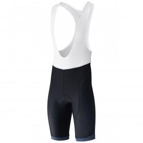Shimano aspire cuissard de cyclisme à bretelles court noir bleu