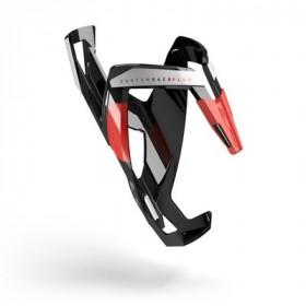Elite bidonhouder custom race plus glossy zwart - rood logo