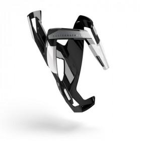 Elite bidonhouder custom race plus glossy zwart - wit logo