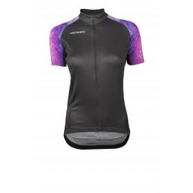 Vermarc galaxy maillot de cyclisme manches courtes femme noir