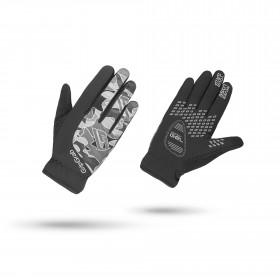 Gripgrab rebel youngster winter gant de cyclisme noir gris