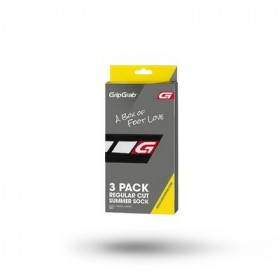GripGrab Cycling Sock Regular-Cut Black (3-Pack)
