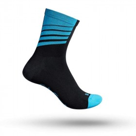 Gripgrab racing stripes chaussettes de cyclisme noir bleu