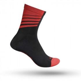 Gripgrab racing stripes chaussettes de cyclisme noir rouge