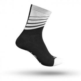 Gripgrab racing stripes chaussettes de cyclisme noir blanc