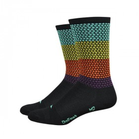 Defeet aireator high top chaussettes hypnotic multi