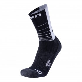 Uyn cycling support chaussettes de cyclisme noir blanc