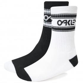 Oakley B1B chaussettes de cyclisme blackout noir blanc 2-pack