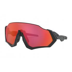 Oakley flight jacket lunettes de cyclisme noir mat - prizm trail torch lentille