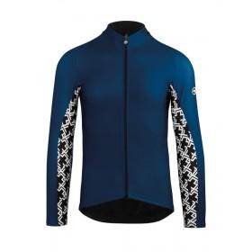 Assos mille gt spring/fall maillot de cyclisme manches longues caleum bleu