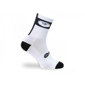SIDI Logo 12 Sock White Black