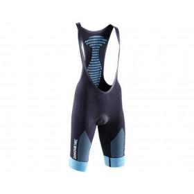 X-Bionic effektor biking power cuissard court à bretelle femme noir turquoise