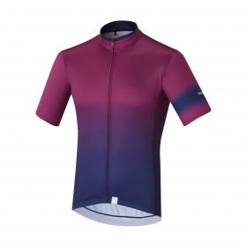 Shimano mirror cool maillot de cyclisme manches courtes violet