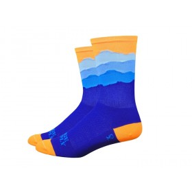 "DEFEET Sock Ridge Supply Aireator 6"" Skyline Neon Orange"