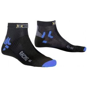X-Socks bike racing chaussettes femme noir bleu